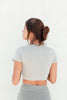Sammy V-Neck Crop Top - Slate