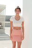 Sammy V-Neck Crop Top - Cream