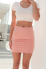Monaco Fitted Skirt - CLAY