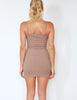 Taupe Ribbed mini dress