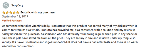 Frunutta Vitamins Review on Amazon