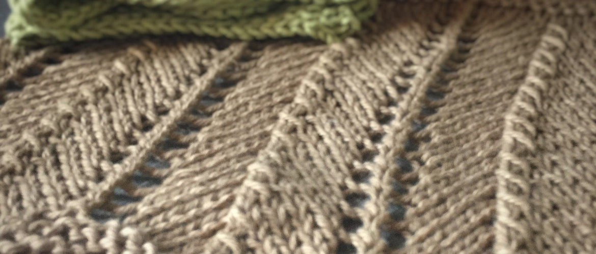 Hand Knit Chevron Dish Cloth Free Pattern Download