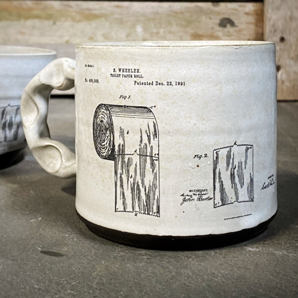 Toilet Paper #feedtheartists Mug PRE-ORDER Rebecca Graves Pottery