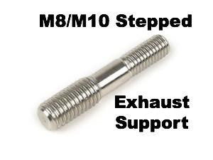 Lambretta Stepped Stud M8 - M10 Used for Repairs of Exhaust Support and Chaincase Cover - stainless steel 3331076 MB Developments