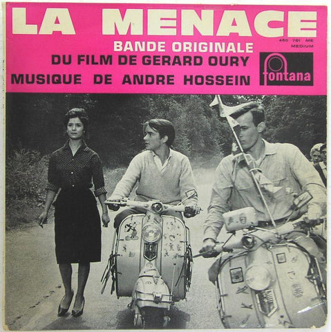 "LA MENACE rare Andre Hossein soundtrack 7"" 45 EP Record - Lambretta Collectible"