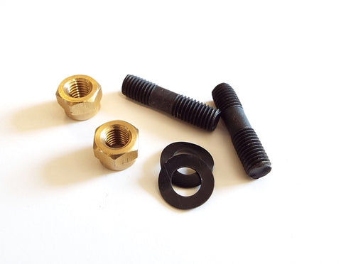 Lambretta Exhaust Stud, Brass Nut & Washer Set