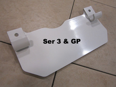 Lambretta Center Stand Splash Plate Mudguard with hooks Series 3 and GP - 19957040