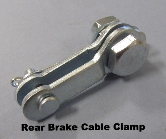 Lambretta Rear Brake Cable Clamp Set - 72070010, 83100010, 15059012, 15059013, 74400228, 73030064, 15059014