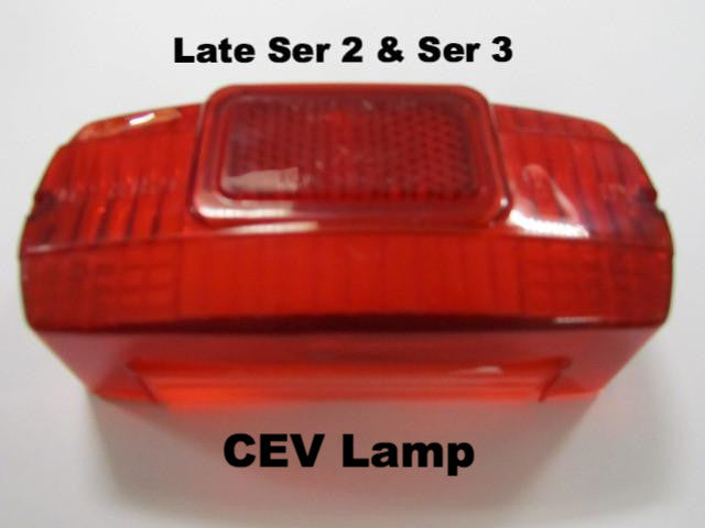 Lambretta Tail Lamp Rear Lens CEV Series 2 and 3