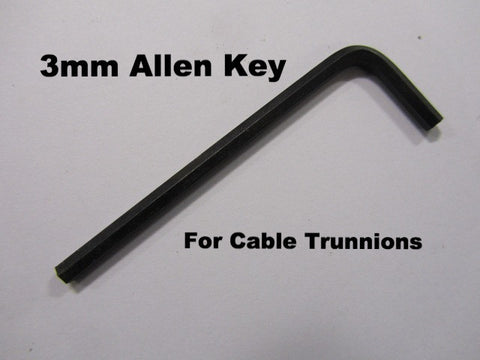 Lambretta Gear and Clutch Cable Trunnion 3.0mm Allen Head Hex Key