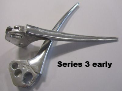 Lambretta brake & clutch lever set early type for Series 3 TV & LI (thin evers up to june 1964) - Scootopia