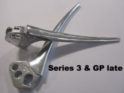 Lambretta brake & clutch lever set late type for series 3 & GP (thick levers) - Scootopia