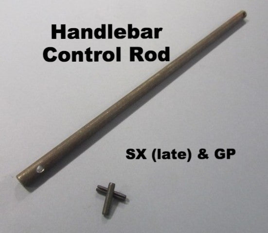 Lambretta Handlebar Headset Control Rod with Shaft End Pins for SX (late) & GP - 19762025 19962028