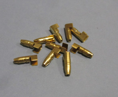Male Bullet Connector - Brass  (set of 10) - Scootopia