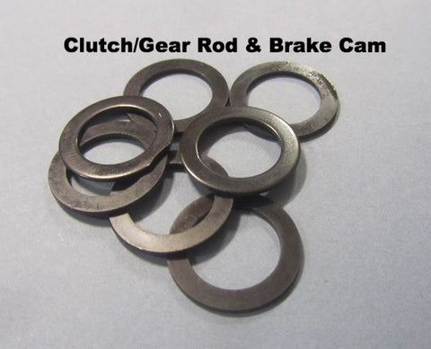 Lambretta Shim Set for Clutch Gear Rod and Brake Cam PACK OF 7 SHIMS  19031015