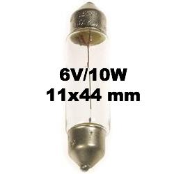 Festoon Bulb 6V/10W Socket:  SV8.5 11x44 mm -57410000