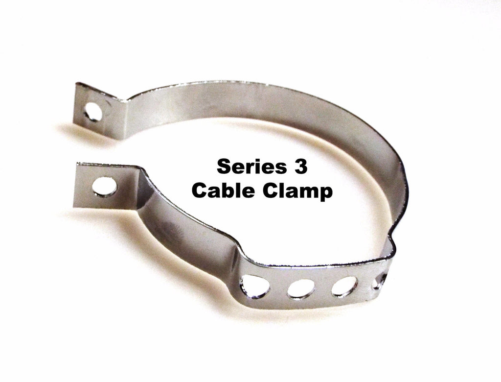 Lambretta series 3 cable chrome clamp for grease fittings - 19990011