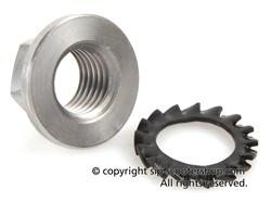 Vespa Clutch Nut and Lock Washer - 25070102 - 33996 - 7671356
