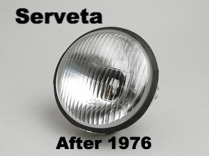 Lambretta Serveta Late model Headlight Headlamp Glass Post 1976 Models - 19780050 8212114