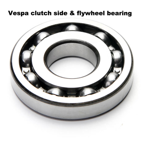 Vespa clutch side & flywheel bearings for most engines - Scootopia 97804 (EACH)