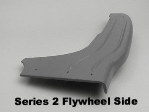 Lambretta rear foot / floor board 5821083 LEFT (Flywheel side) LI (series 1-2), TV (series 2) - 19050054