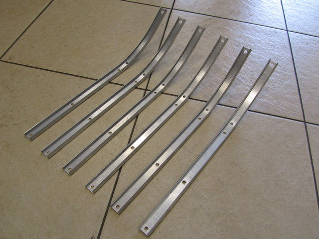 Lambretta  alloy floor channels for series 1 and 2 Li 150 and series 2 TV 175