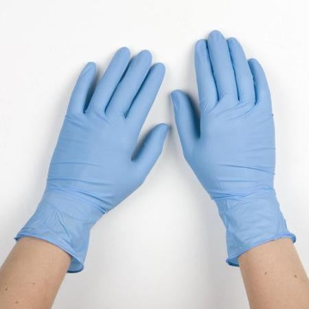 Nitrile Gloves: Box 100 Powder Free Blue