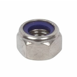Nyloc Nut Stainless Steel and Zinc.  Various Sizes