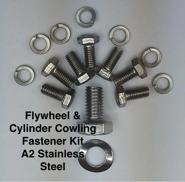 Lambretta Complete Cylinder and Fan Cowling Fastener Kit  Stainless Steel