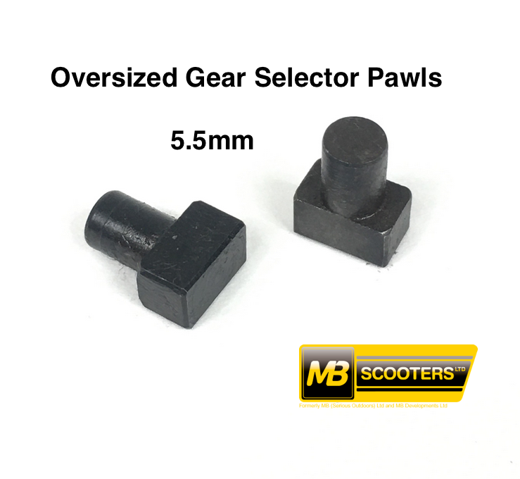 Lambretta Gear Selector Pawl T Pins Oversized by MB Developments MRB0837S
