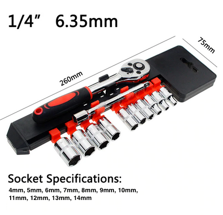 1/4 inch Socket Wrench Set For Motorcycles