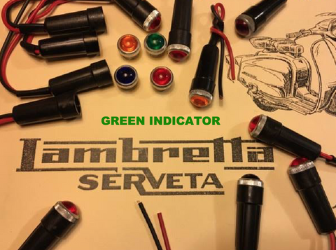 Lambretta Serveta GREEN Headset Indicator Warning Light