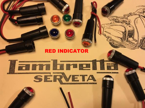 Lambretta Serveta RED Headset Indicator Warning Light