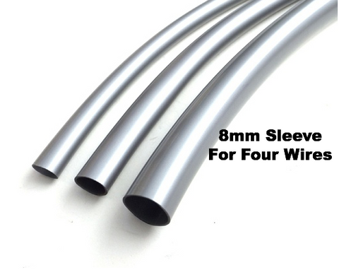 8mm Grey Sleeving For Four Wires PER METER