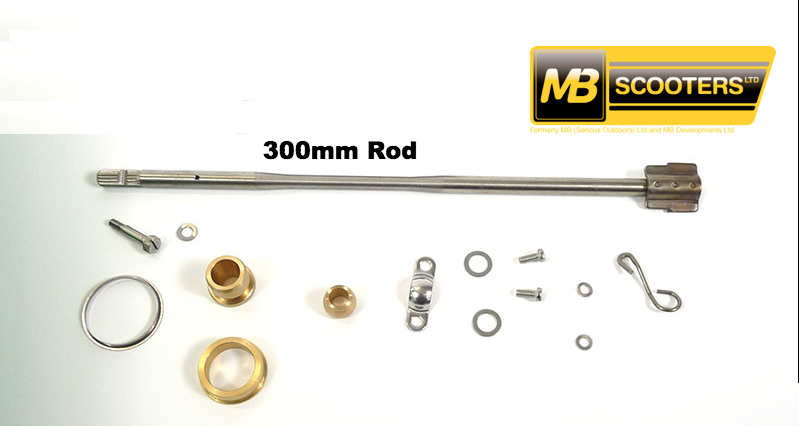 Lambretta Spanish Headset Internal Rod Kit Clutch Side 300mm - MBP0548K