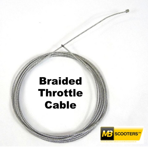 Lambretta Throttle Braided inner cable MB Large carbs