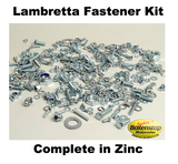 Lambretta Complete Fastener Kit in Zinc by JOCKEY'S BOXENSTOP 400+ pieces