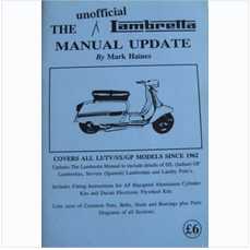 The Unofficial Lambretta Manual Update by Mark Haines