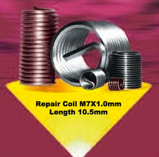 Coil-sert Thread Repair Coil  M7X1.0 Length 10.5 mm. Each.