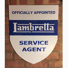 Lambretta Dealer Sign - Reproduction Sheild