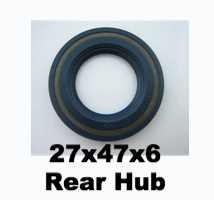 Vespa Rear Hub Oil Seal 27X47X6 - 104255  130536