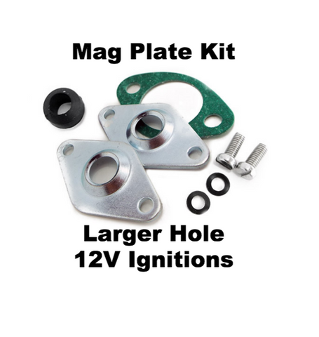 Lambretta Mag Housing Wiring Plate Kit - Larger Diameter Hole Accomodates Electronic Igntion Wiring