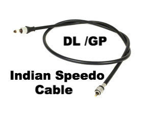 Lambretta Speedo Cable Complete Black (Fits Indian Speedo)