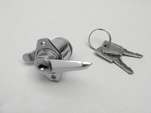 Lambretta toolbox lock, 2 keys & rivets series 3 CASA-  19955060 8007061