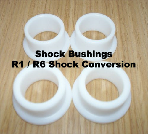 Lambretta Nylon Shock Bushings for R1 / R6 Shock Conversion