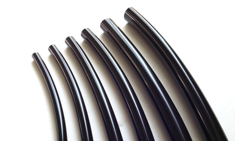 6mm Black Electrical Sleeving For Two Wires ONE METER - 21-98*