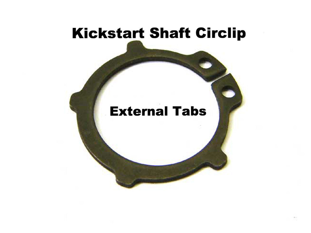 Lambretta Circlip - Kickstart Shaft with external tabs - 73260020 each