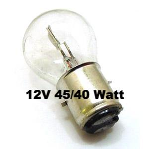 Lambretta and Vespa Headlamp Bulb BA20D 12 volt 45/40 watt  - MBU0019