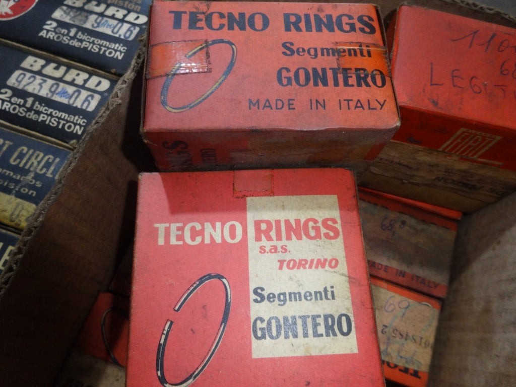 Lambretta Piston Rings Set for TV 175   63.0 X 2.5mm Two Rings Set   N.O.S. Italian