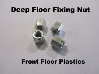 Lambretta deep floor fixing nut set of 4 - Series 3 & GP- 19950112 - Scootopia